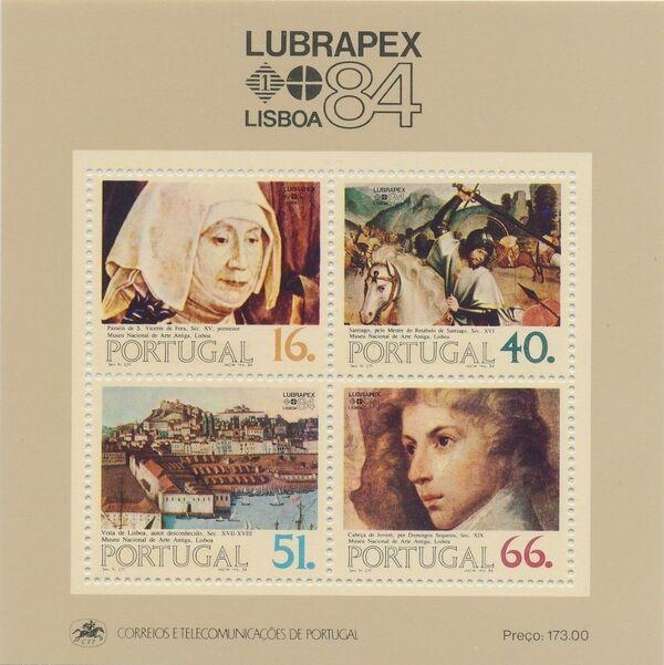 Portugal 1984 Portugues-Brazilian Stamp Exhibition LUBRAPEX '84 f