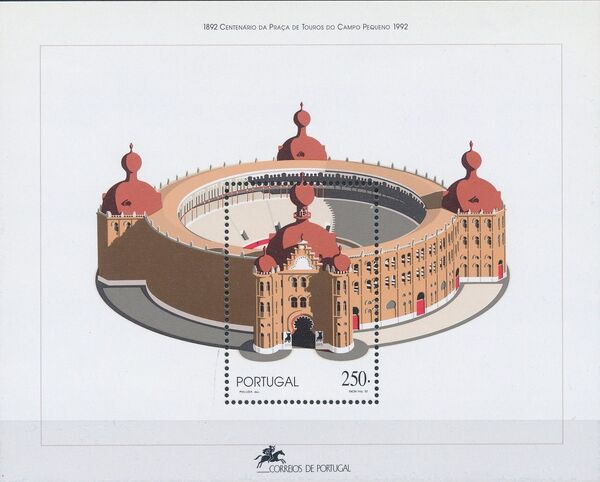 Portugal 1992 100th Anniversary of Bull Ring Campo Pequeno g