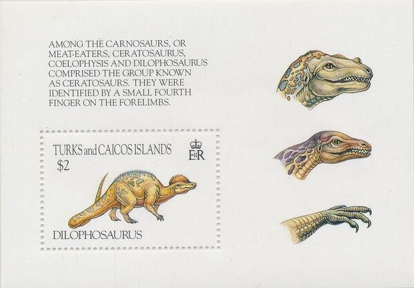 Turks and Caicos Islands 1993 Prehistoric Animals n