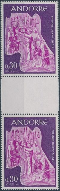 Andorra-French 1967 Frescoes e