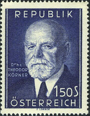 Austria 1953 80th Birthday of President Theodor Körner a