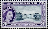 Bahamas 1954 Queen Elisabeth II and Landscapes Issue p