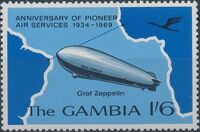 Gambia 1969 35th Anniversary of Pioneer Air Services c