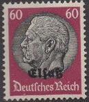 German Occupation-Alsace 1940 Stamps of Germany (1933-1936) Overprinted in Black n