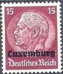 German Occupation-Luxembourg 1940 Stamps of Germany (1933-1936) Overprinted in Black h