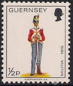 Guernsey 1974 Military Uniforms Definitive Issue a