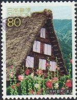 Japan 2002 World Heritage (2nd Series) - 9 Villages of Shirakawa-go & Gokayam c