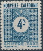 New Caledonia 1948 Numerals (Official Stamps) g