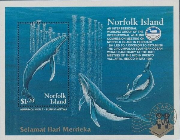 Norfolk Island 1995 Humpback Whale Conservation SSb