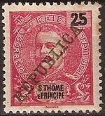 St Thomas and Prince 1911 D. Carlos I Overprinted f