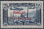"Alexandretta 1938 Air Post Stamps of Syria (1937) Overprinted ""SANDJAK D'ALEXANDRETTE"" in Red or Black h"