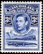 Basutoland 1938 George VI, Crocodile and River Scene e