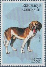 "Gabon 1996 ""China '96"" Philatelic Exhibition - Dogs c"