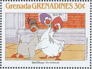 Grenada Grenadines 1988 The Disney Animal Stories in Postage Stamps 6f
