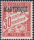 Martinique 1927 Postage Due Stamps of France Overprinted e