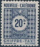 New Caledonia 1948 Numerals (Official Stamps) j