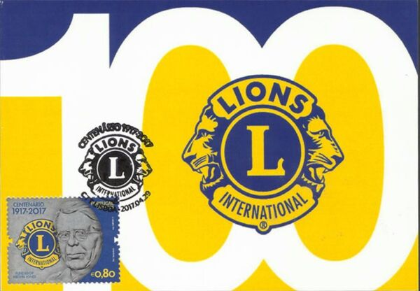 Portugal 2017 100 Years of Service of Lions Clubs International MCb