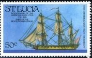 St Lucia 1976 200th Anniversary of American Revolution - Revolutionary Era Ships g