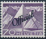 Switzerland 1950 Engineering - Switzerland Postage Stamps of 1949 Overprinted Officiel k