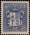 Andorra-French 1937 Coat of arms of Andorra c.jpg