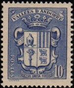 Andorra-French 1937 Coat of arms of Andorra c