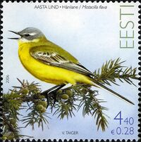 Estonia 2006 Bird of the Year - The Yellow Wagtail a