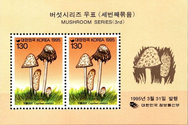 Korea (South) 1995 Mushrooms (3rd Issue) i