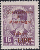 Montenegro 1941 Yugoslavia Stamps Surcharged under Italian Occupation r