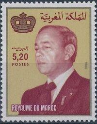 Morocco 1988 King Hassan II c