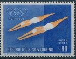 San Marino 1960 17th Olympic Games in Rome (Air Post Stamps) c