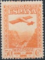 Spain 1931 Plane over Montserrat Pass d