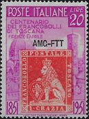 Trieste-Zone A 1951 Centenary of Tuscany's First Stamps a