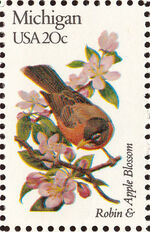 United States of America 1982 State birds and flowers u