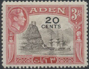 Aden 1951 King George VI Pictorials with New Values d