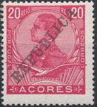 Azores 1911 D. Manuel II Overprinted REPUBLICA e