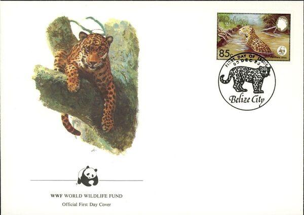 Belize 1983 WWF - Jaguar FDCc
