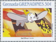 Grenada Grenadines 1988 The Disney Animal Stories in Postage Stamps 4g