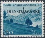 Liechtenstein 1947 Stamps of 1944-1945 overprinted - Official Stamps g