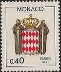 Monaco 1985 National Coat of Arms - Postage Due Stamps (1st Group) f