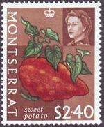 Montserrat 1965 Fruit & Vegetables and Portrait of Queen Elizabeth II p