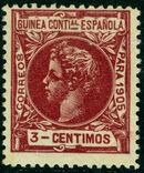 Spanish Guinea 1905 Alfonso XIII c