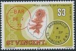 St Vincent 1979 Cancellations and Location of Village r
