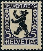 Switzerland 1924 PRO JUVENTUTE - Coat of Arms a