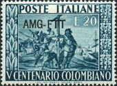 Trieste-Zone A 1951 500th Anniversary of Birth of Columbus a