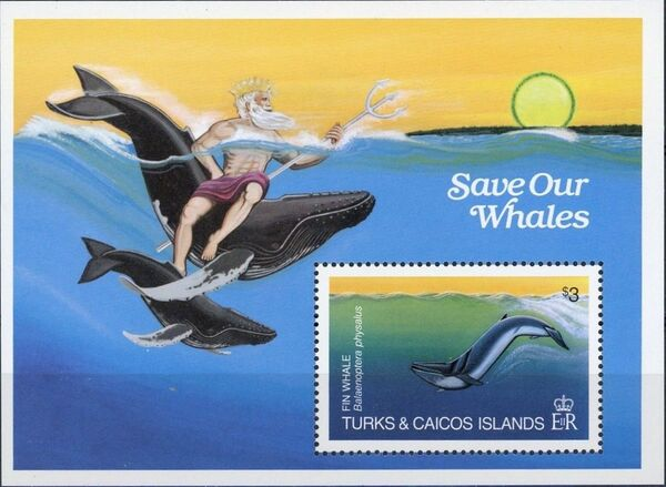 Turks and Caicos Islands 1983 Save Our Whales SSA