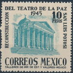 Mexico 1945 Reconstruction of the Teatro de la Paz (Regular Mail) d