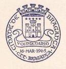 Portugal 1965 500 Years of Bragança City PMd
