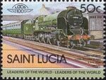 St Lucia 1983 Leaders of the World - LOCO 100 p