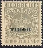 """Timor 1884 Stamps of Macau Overprinted """"TIMOR"""" g"""