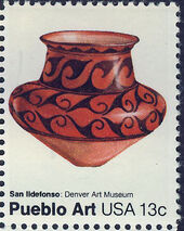 United States of America 1977 American Folk Art Series - Pueblo Pottery b